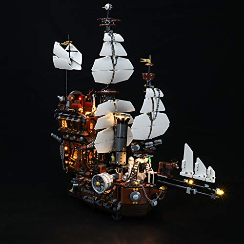 LIGHTAILING Conjunto de Luces (Movie Metal Beard's Sea Cow) Modelo de Construcción de Bloques - Kit de luz LED Compatible con Lego 70810 (NO Incluido en el Modelo)