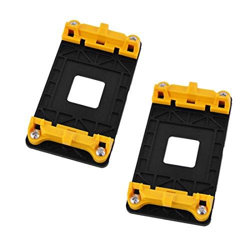 sourcing map AM2 AM2 + AM3 AM3 + FM1 FM2 plástico AMD CPU Soporte del Ventilador del pie de Apoyo 2pcs Amarillas