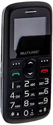 Celular Vita 3G Dual Chip USB e Bluetooth Tela 1,8 Pol. + Base Carregadora Preto Multilaser - P9091