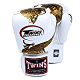 Twins Special Fancy Guantes de boxeo Gold Dragon Velcro muñeca 12 oz
