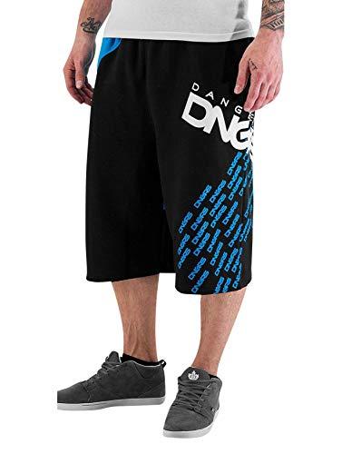 EGOMAXX DNGRS Herren Shorts Baggy Sweat Pants Bermuda Sport Hose, Farben:Blau, Größe Hosen:L