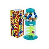 PlayO 7' Spiral Gumball Machine Toy - Kids Dubble Bubble Twirling Style Galaxy Candy Dispenser - Birthday Parties, Novelties, Party Favors and Supplies (Blue)