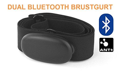 Bluetooth et ant + Sangle de poitrine pour application Runtastic, Wahoo, strava, pour Android tels que Samsung S3/S4/S5/S6/S7/S8, Sony, LG, HTC, Google Cardiofréquencemètre, HRM