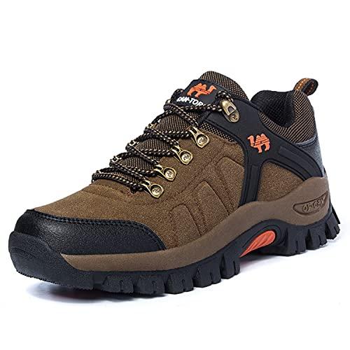 VTASQ Zapatillas De Senderismo Hombre Mujer Al Aire Libre Antideslizantes Zapatillas de Trekking Transpirable Deporte Ligeras Unisex Botas de Senderismo marrón 41 EU