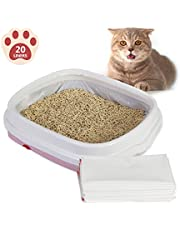 JSVER 20 Bolsas XL Bolsa Arenero Gatos Bolsas de Basura para Gatos (91,4×48,3cm) para Cajas de Arena Medianas y Grandes Bolsa de Basura para Mascotas