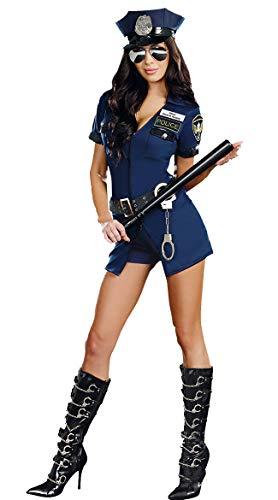 XSQR Sexy Policewoman Uniform Blauw Rits Politie Uniform Halloween Carnaval Party Jurk Game pak