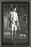 ポスター ステューシー ステューシー20th Anniversary プリント05 額装品 アルミ製ベーシックフレーム(ブラック)