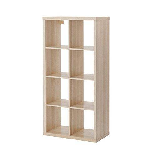 IKEA/イケア KALLAX/カラックス シェルフユニット77x147 cm ホワイトステインオーク調 80324519