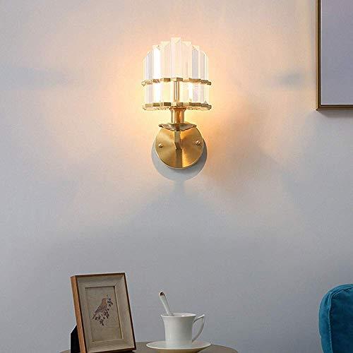 YMBLS Lámpara de Pared , Lámpara de Pared de Cristal Lámpara de Pared de Fondo Sala de Estar Dormitorio Lámparas Y Linternas Domésticas 27 * 21Cm