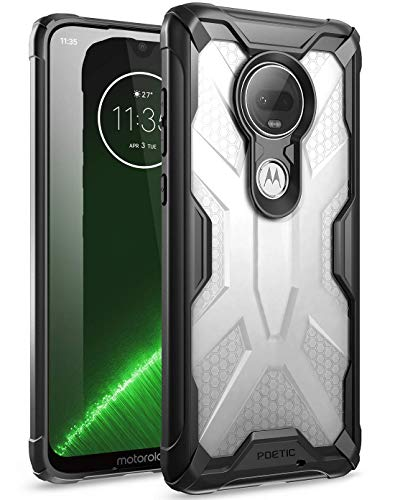 Moto G7 Case, Poetic Premium Hybrid Protective Clear Bumper Cover, Rugged Lightweight, Military Grade Drop Tested, Affinity Series, DO NOT FIT Moto G7 Power or Moto G7 Play, Frost Clear/Black