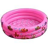 Planschbecken Kinder Rund Aufblasbares Pool Schwimmbecken Kinderpool Babypool Kleinkind Aufstellpool für Garten und Outdoor/Pink / 90x25cm
