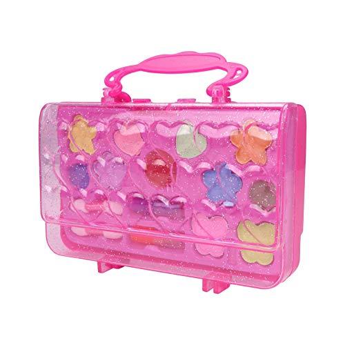 Juego de maquillaje Princess, juego de maquillaje portátil Princess de 16 piezas, lápiz labial ecológico, maquillaje, juguetes para jugar a la casa, regalos