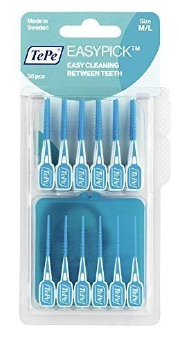 種夢収入Tepe Easy Pick Interdental Brushes Blue Size M/L Pack of 36 - 2 Pack by TePe