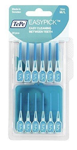 Tepe Einfache Pick-Interdentalbürsten blau Größe M / L Packung mit 36-6-Pack