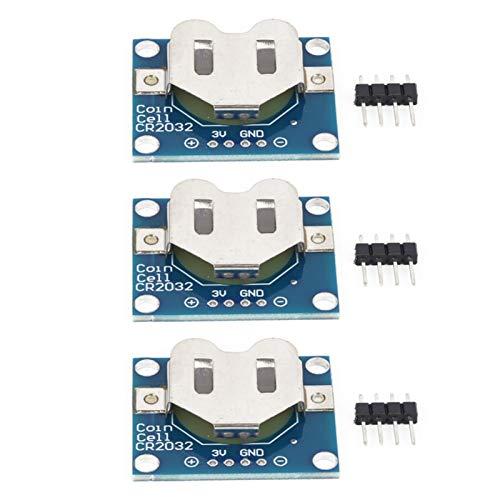 Módulo de Soporte eléctrico Prcatical Mini tamaño 3 uds Placa de Montaje de batería de botón con Cabezal de 3 Pines para celda de Moneda CR2032 de 20 mm