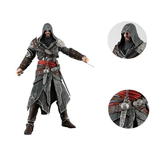 Live anime Assassins Creed Hermandad de 3ª Generación Ezio Auditore Movable Figura Modelo Estatua Aproximadamente 15 cm de Altura