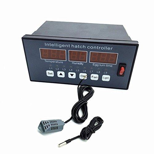 Huatuo termostato Digital Controlador multifunción/Incubadora Automática de Huevos de Aves Gallinas Patos, Sensor de Temperatura para incubateur de pequeña Talla (XM-16)