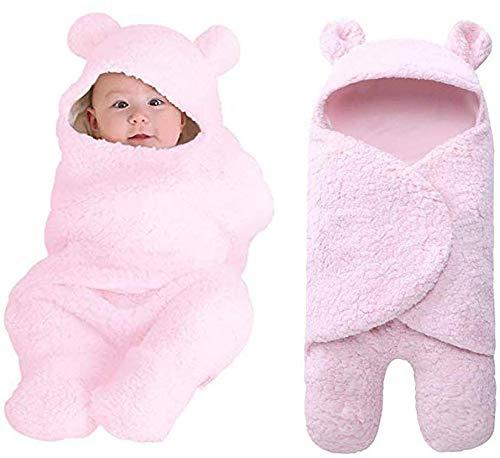 ZYEZI Couverture d'enveloppe de sac de couchage de bébé, Universel de bébé nouveau-né mignon de sommeil s'emboîtant pour la poussette de lit rose
