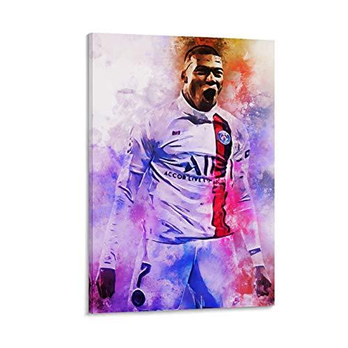TINGTAI Kylian Mbappe Fußball-Star, individuelles Poster, dekoratives Gemälde, Leinwand, Wandkunst, Wohnzimmer, Poster, Schlafzimmer, Malerei, 20 x 30 cm
