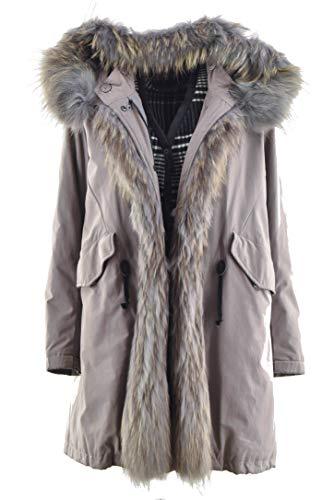Montereggi Eskimo Double Jacket Woman 42 S Beige Interior Wool Fur Murmasky - Beige - UK 10