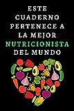Este Cuaderno Pertenece A La Mejor Nutricionista Del Mundo: Ideal Para Regalar A Tu Nutricionista Favorita - 120 Páginas