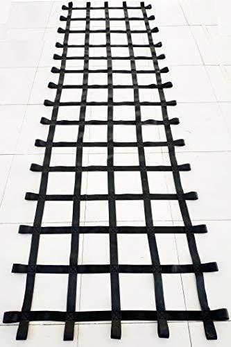 FONG 12 ft X 4 ft Climbing Cargo Net Black (144 inch x 48 inch) - Playground Cargo Net - Climbing Net for Swingset - Indoor Climbing Net - Climbing Ladder