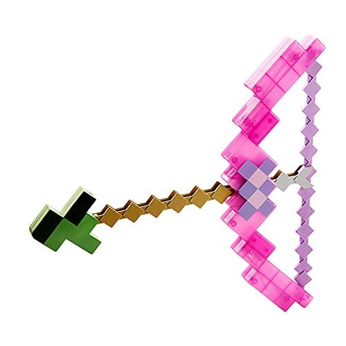 JYJD Arcos y Flechas de Juguete Minecraft, Material ABS, Adecuado para Regalos para Niños de 4 A 6 Años