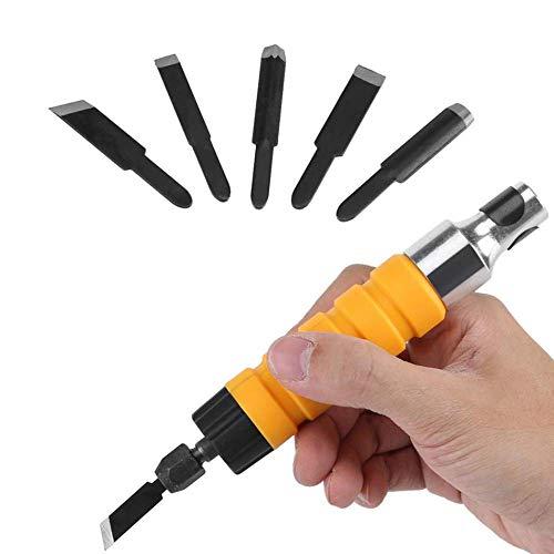 Cincel eléctrico Juego de tallado de cincel de madera eléctrico Herramientas de...