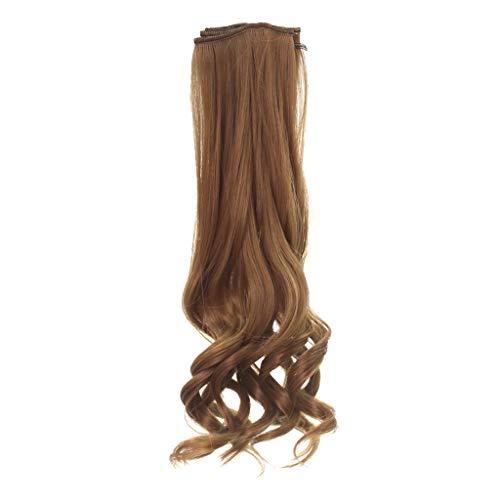 25 cm Lange Lockige Perücke Haar DIY Puppenhaare für Puppen, Puppenzubehör - Kaffee