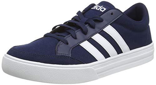 adidas Herren VS Set Tennisschuhe, Blau (Collegiate Navy/FTWR White/FTWR White Collegiate Navy/FTWR White/FTWR White), 47 1/3 EU