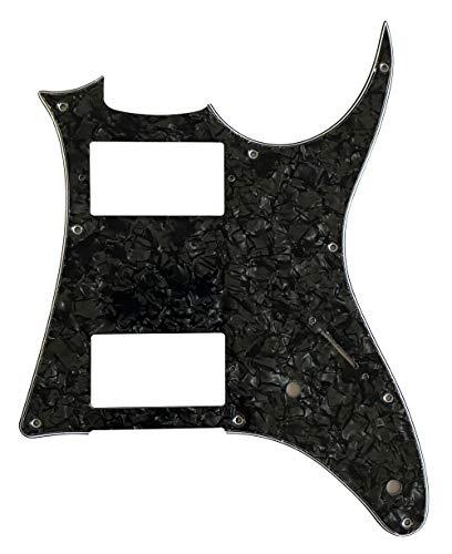 Golpeador de guitarra personalizado para MIJ Ibanez RG X20 estilo (4 capas negro perlado)