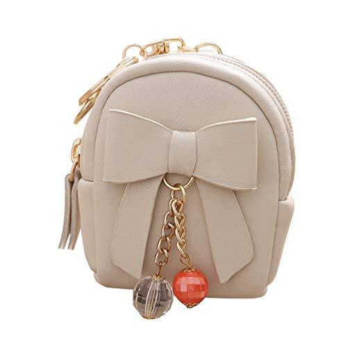 FENICAL Mini-Geldbörse mit Reißverschluss, Rucksack, Schlüsselanhänger, kleine T
