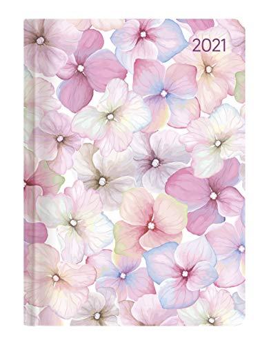 Alpha Edition - Agenda Settimanale Ladytimer 2021, Formato Tascabile 10,7x15,2 cm, Fioriture, 192 Pagine