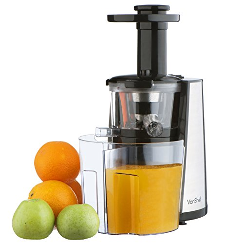VonShef 150W Slow Masticating Single Auger Juicer Extractor...