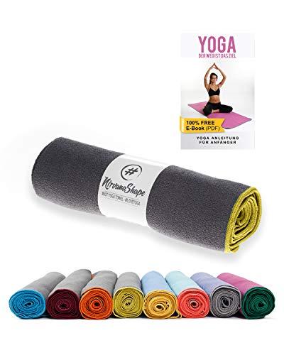 Nirvanashape ® Handduk för Yoga Halkskydd | Hot Yoga Handduk Med Halkfri Beläggning | Hygienisk...