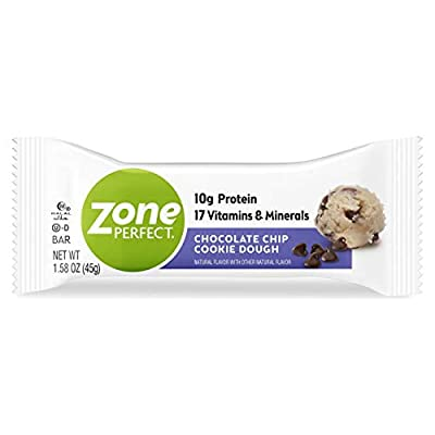 Zone Perfect Protein Bars, Dark Chocolate Almond, 12g of Protein, Nutrition Bars with Vitamins & Minerals, Great Taste Guaranteed, 20 Bars