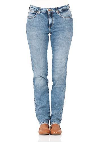 Wrangler Damen Slim Jeans, Blau (Water Blue), W29/L30