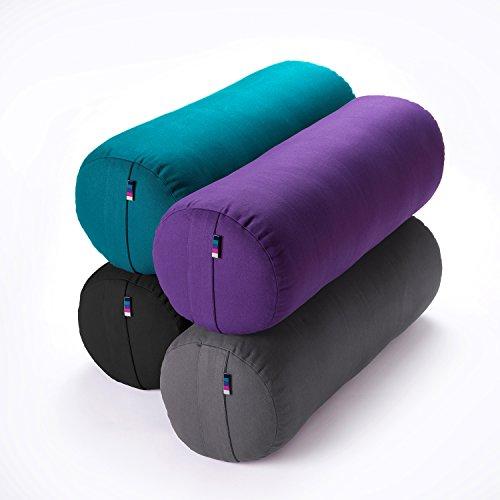 Yogamatters Standard Buckwheat Yoga Bolster (Purple)