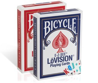 BICYCLE(バイスクル) E-Z-SEE Lo-Vision(ロービジョン) トランプ 赤/青 2デックシュリンクパック