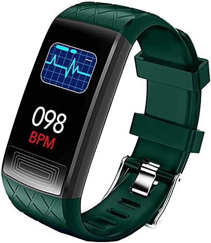 LLDKA Reloj Conectado, Pulsera conectada IP67 Impermeable con presión Arterial Monitor de frecuencia cardíaco Monitor Smart Share para teléfonos Inteligentes,Verde