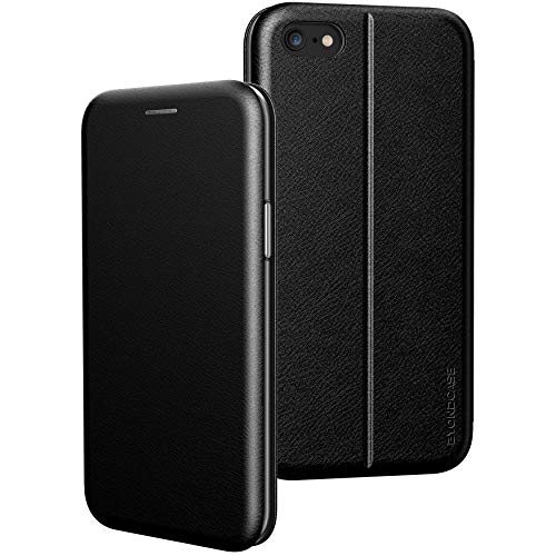 BYONDCASE iPhone 6s Hülle Schwarz, Handyhülle iPhone 6 Hülle [Deluxe Leder Flip-Hülle Klapphülle] Hülle Schutzhülle kompatibel für iPhone 6s Tasche