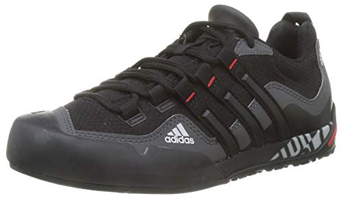 adidas Terrex Swift Solo, Zapatillas de Hiking Unisex Adulto, GRISEI/NEGBÁS/Escarl, 39 1/3 EU