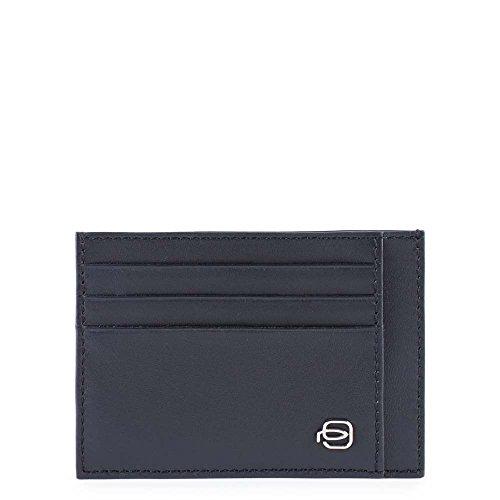 Piquadro PP2762SPLR/NR Splash Porta carte di credito, 12 cm, Nero/Rosso
