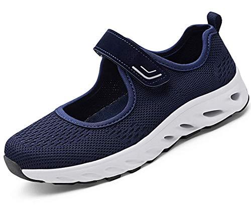 Zapatillas para Mujer Deportivo Sandalias Merceditas Ligero Mary Jane Deportes para Caminar Yoga Mocasines Verano Correr Calzado Azul EU40