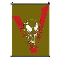 スパイダーマンのヴェノム ト多機能ホーム装飾 掛ける絵 吊り軸 タペストリー ポスターの壁のスクロール 掛ける絵 スクロール 吊り軸 巻物 壁掛け装飾 部屋 壁アート寝室の装飾