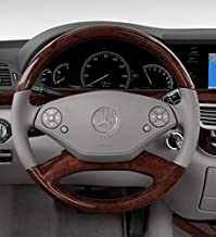 Premium Matte Grey Mercedes Benz Steering Wheel Worn Button Repair Decals 2 Part