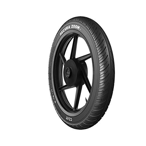 Ceat Secura Zoom F 90/90-17 49P Tubeless Bike Tyre, Front (Home Delivery)