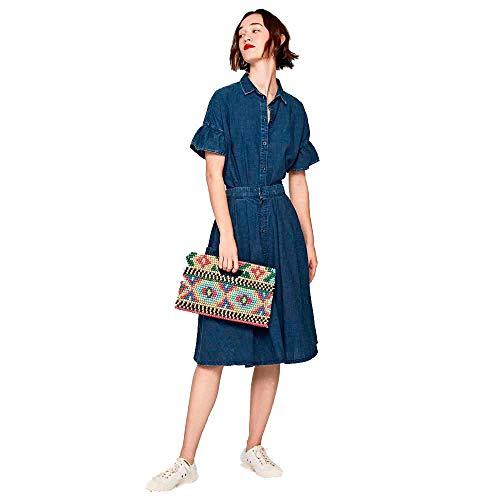 Pepe Jeans -Falda PL900809 Layla 000 Denim -DALDA Midi Mujer (M)