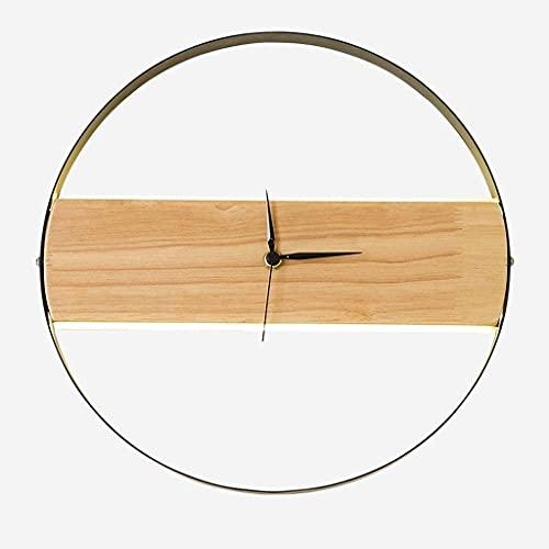 Apliques Lámpara de pared de reloj LED Personalidad nórdica Muro Apliques Moderno Creativo Acrílico Lámpara Estilo Habitación Habitación Lámpara de sala de estar Decoración de la pared de madera lámpa