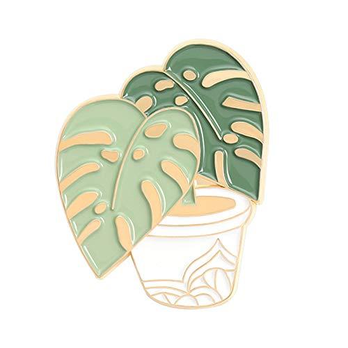 Pines para mochilas, Dibujos Animados Esmalte Pin Plantas en Macetas Broche Escudo Collar Insignia Bolsa Accesorios - 3
